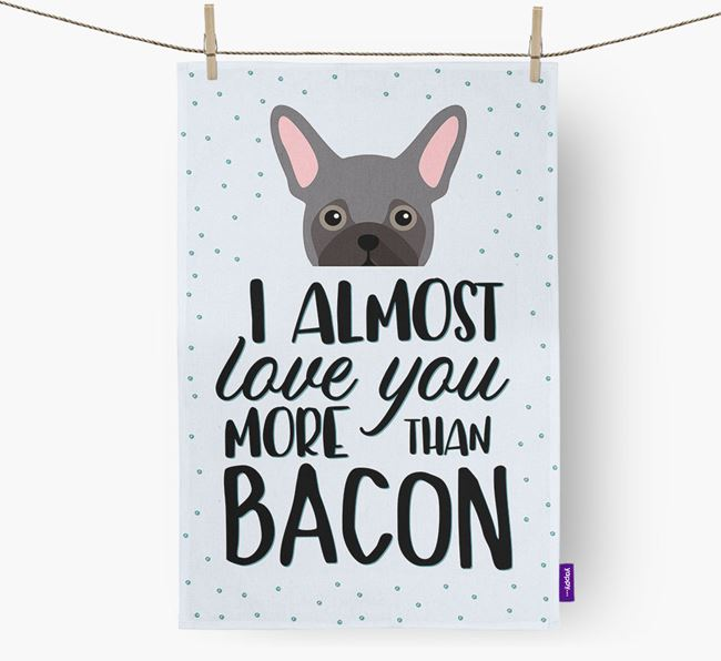 'More Than Bacon' Dish Towel with Frug Icon