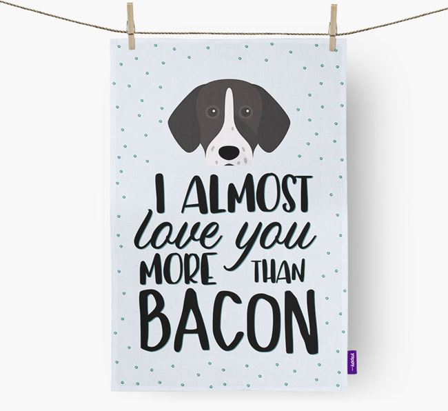 'More Than Bacon' Dish Towel with German Shorthaired Pointer Icon