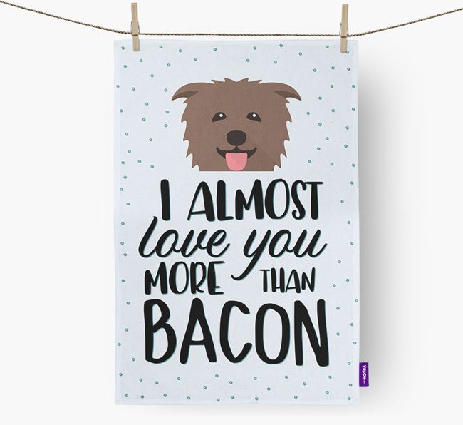 'More Than Bacon' Dish Towel with Glen Of Imaal Terrier Icon