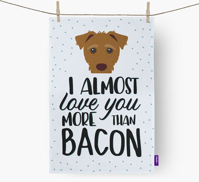 'More Than Bacon' Dish Towel with Jack-A-Poo Icon