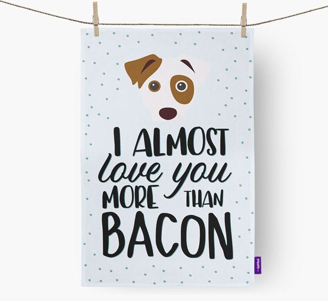 'More Than Bacon' Tea Towel with Dog Icon
