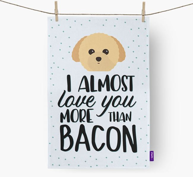 'More Than Bacon' Tea Towel with Toy Poodle Icon
