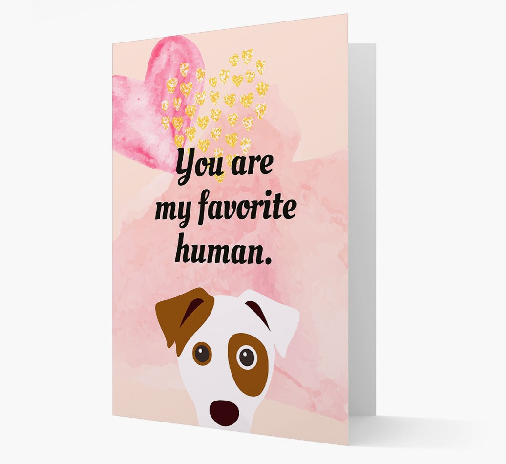 'Favorite Human' card with Dog Icon