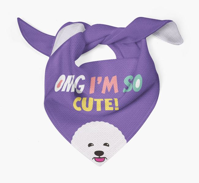 'OMG I'm So Cute' Dog Bandana for your Bichon Frise
