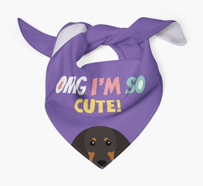 'OMG I'm So Cute' Dog Bandana for your Black and Tan Coonhound
