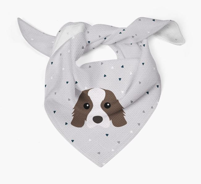 Triangle Pattern Dog Bandana for your Cavalier King Charles Spaniel