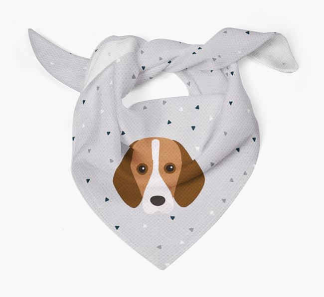 Triangle Pattern Dog Bandana for your Harrier