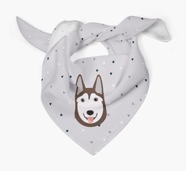 Triangle Pattern Dog Bandana for your Siberian Husky