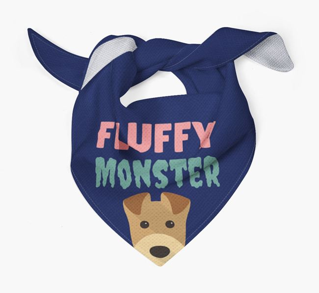 'Fluffy Monster' Dog Bandana for your Airedale Terrier