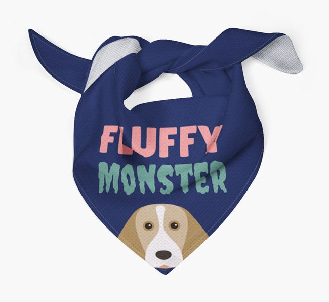 'Fluffy Monster' Dog Bandana for your Beagle