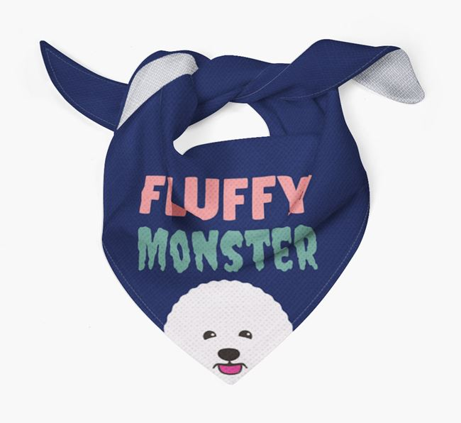 'Fluffy Monster' Dog Bandana for your Bichon Frise