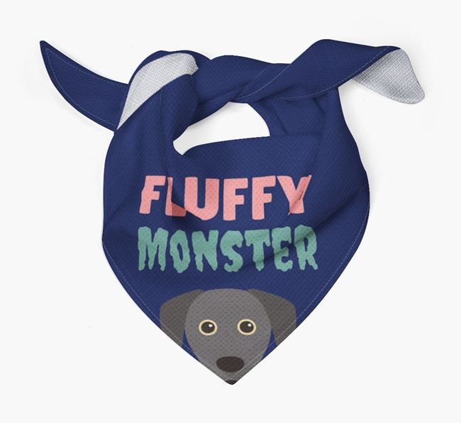'Fluffy Monster' Dog Bandana for your Blue Lacy