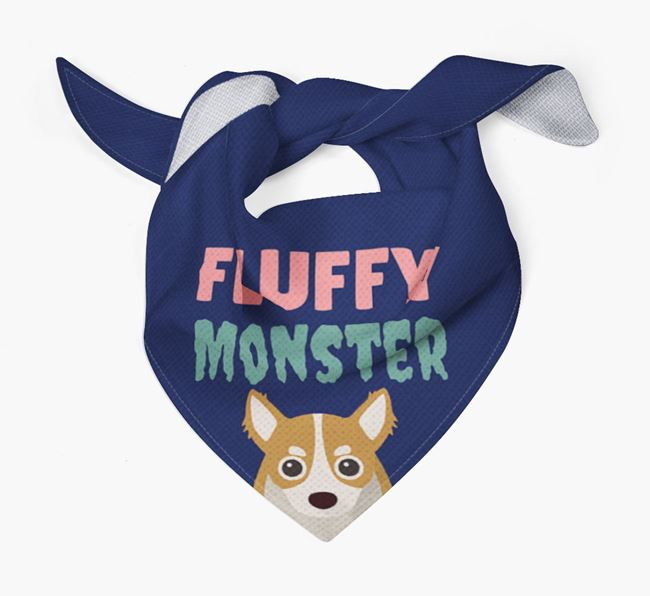 'Fluffy Monster' Dog Bandana for your Chihuahua