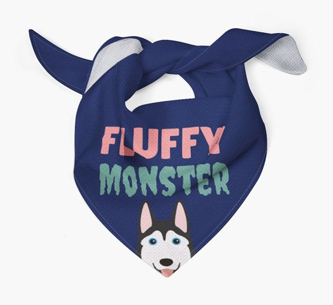 'Fluffy Monster' Dog Bandana for your Siberian Husky