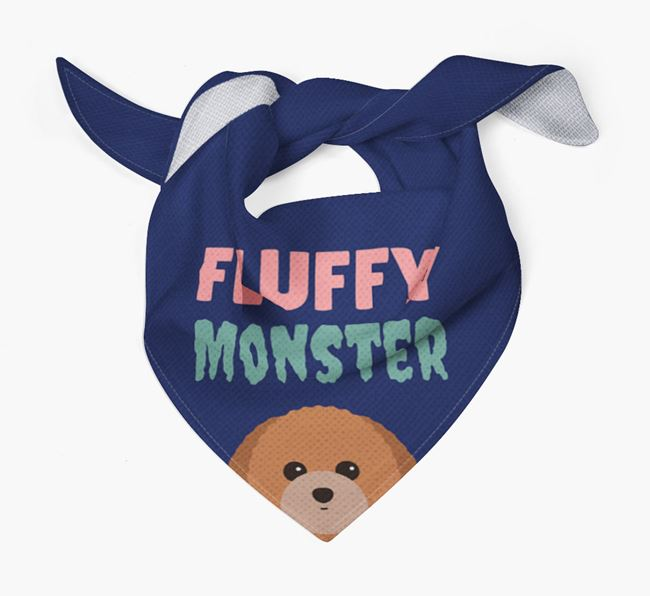 'Fluffy Monster' Dog Bandana for your Toy Poodle