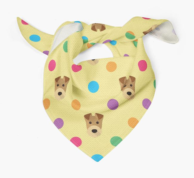 'Spots' Bandana for your Airedale Terrier