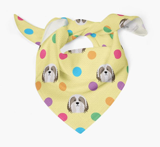 'Spots' Bandana for your Bearded Collie