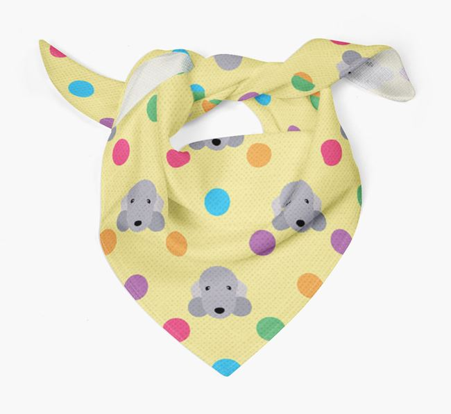 'Spots' Bandana for your Bedlington Terrier