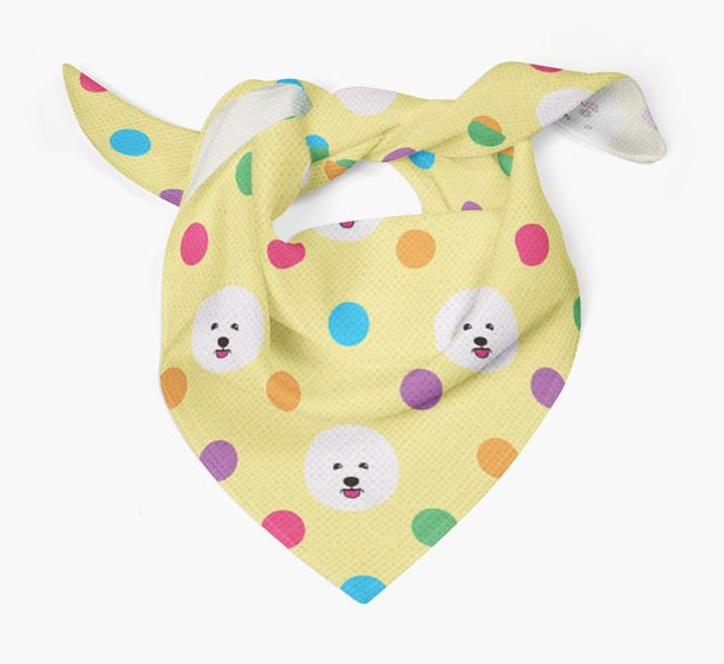 'Spots' Bandana for your Bichon Frise