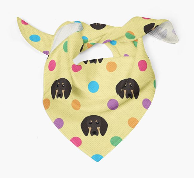'Spots' Bandana for your Black and Tan Coonhound