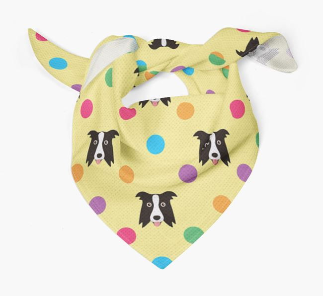 'Spots' Bandana for your Border Collie
