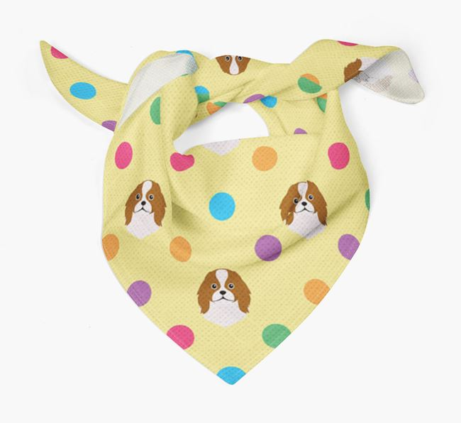 'Spots' Bandana for your Japanese Chin