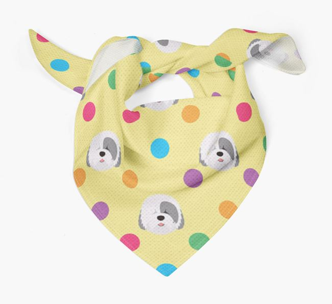 'Spots' Bandana for your Old English Sheepdog