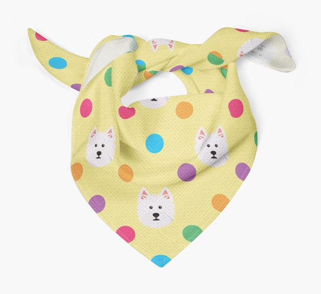 'Spots' Bandana for your West Highland White Terrier
