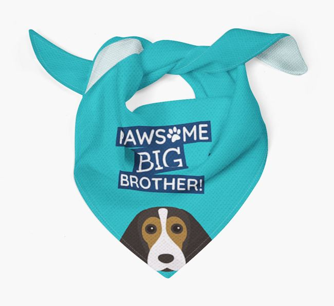 Pawsome Big Brother Bandana for your Beagle