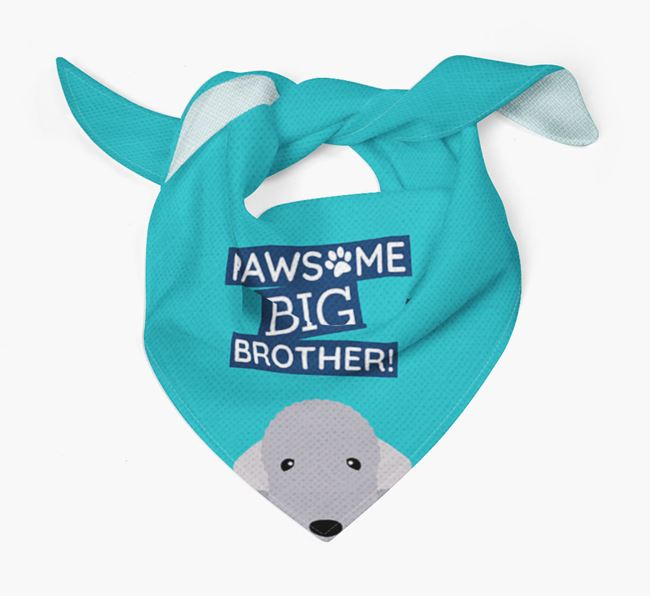 Pawsome Big Brother Bandana for your Bedlington Terrier