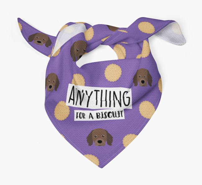 'Anything For A Biscuit' Bandana with Cavapom Icons