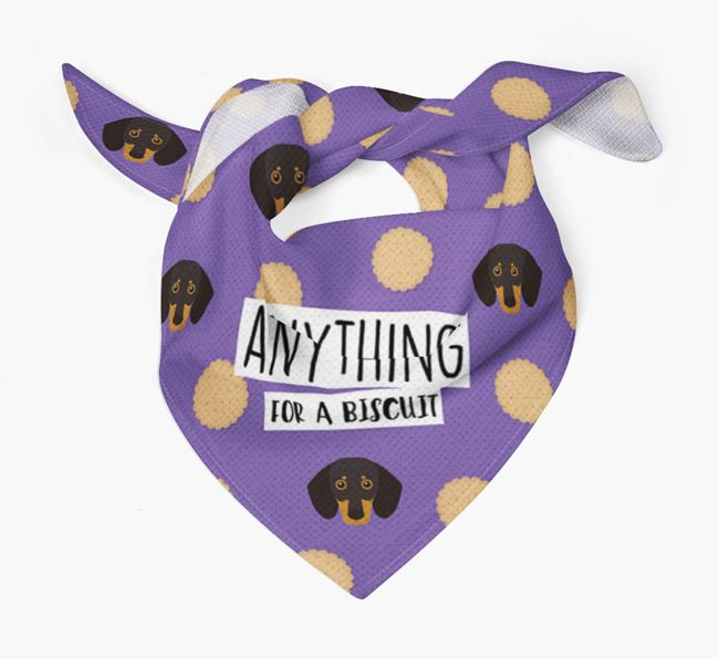 'Anything For A Biscuit' Bandana with Dog Icons