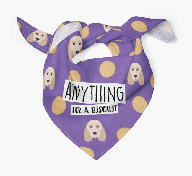 'Anything For A Biscuit' Bandana with Grand Basset Griffon Vendeen Icons