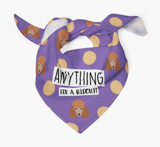 'Anything For A Biscuit' Bandana with Poodle Icons