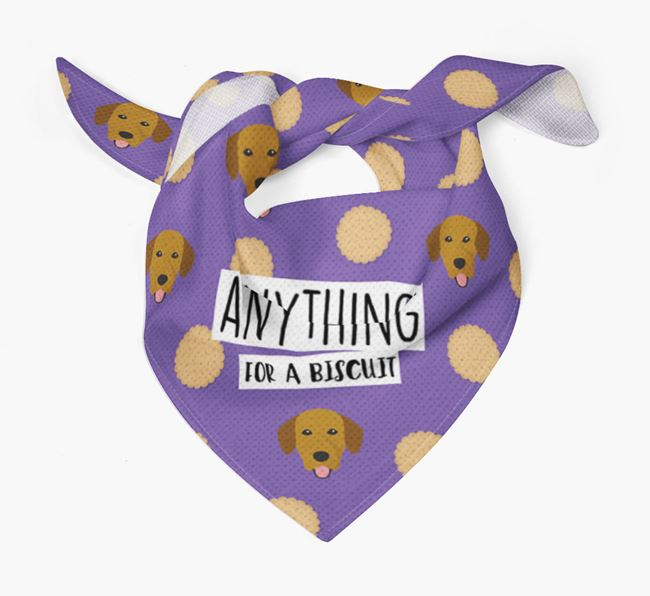 'Anything For A Biscuit' Bandana with Springador Icons