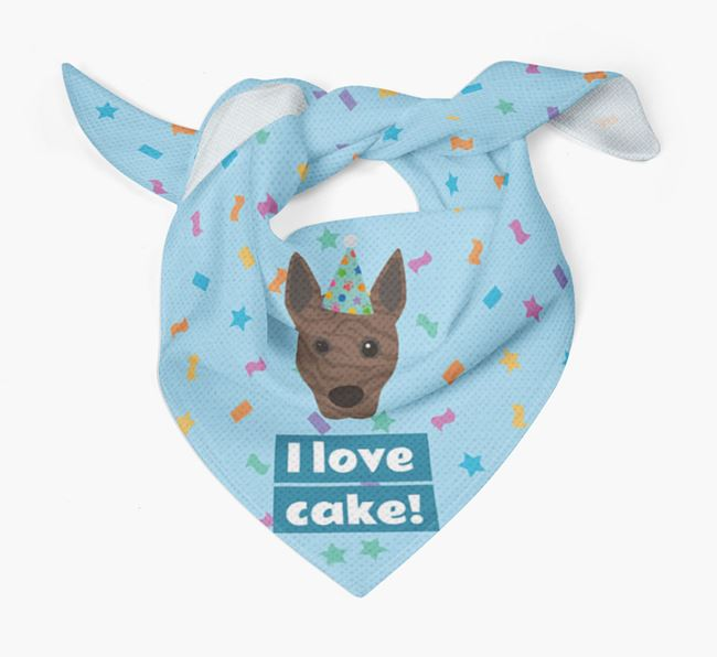 'I Love Cake' Birthday Dog Bandana for your Basenji
