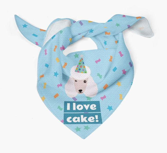 'I Love Cake' Birthday Dog Bandana for your Poodle