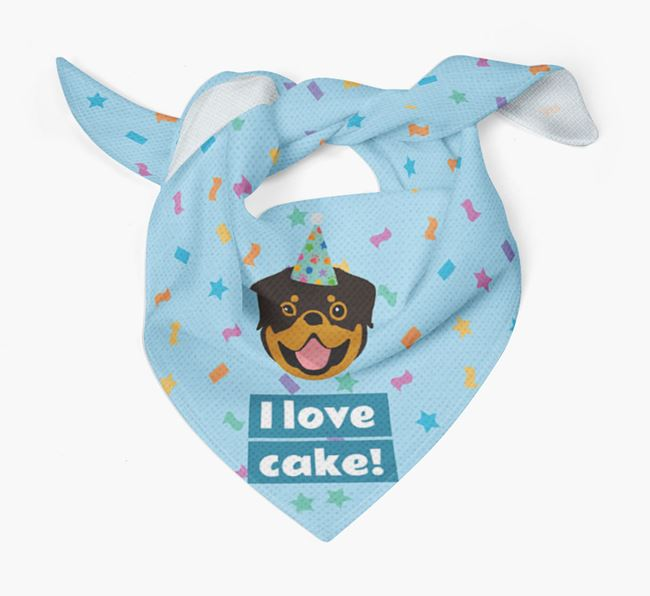 'I Love Cake' Birthday Dog Bandana for your Dog
