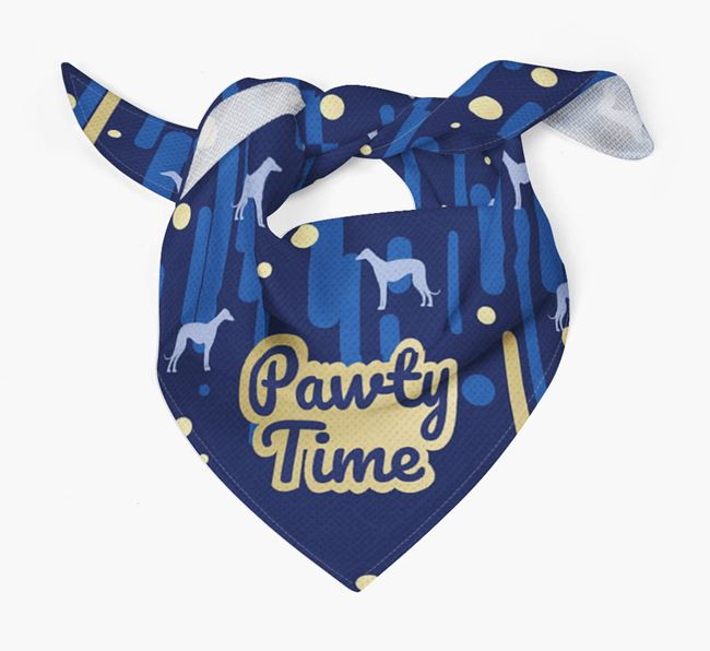 'Pawty Time' Dog Bandana with Dog Silhouettes