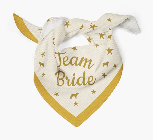 'Team Bride' Wedding Dog Bandana for your Dog