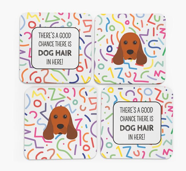 'Chance of Dog Hair' Coasters with American Cocker Spaniel icon