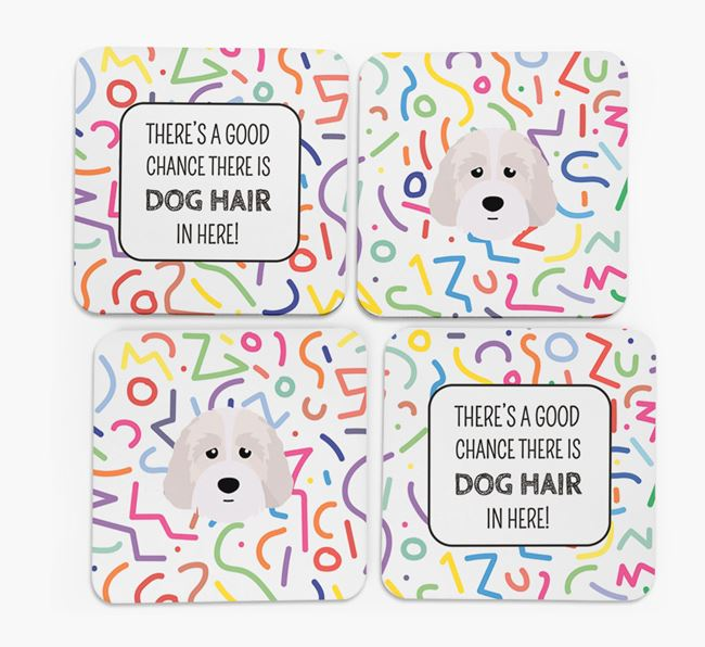 'Chance of Dog Hair' Coasters with Australian Labradoodle icon