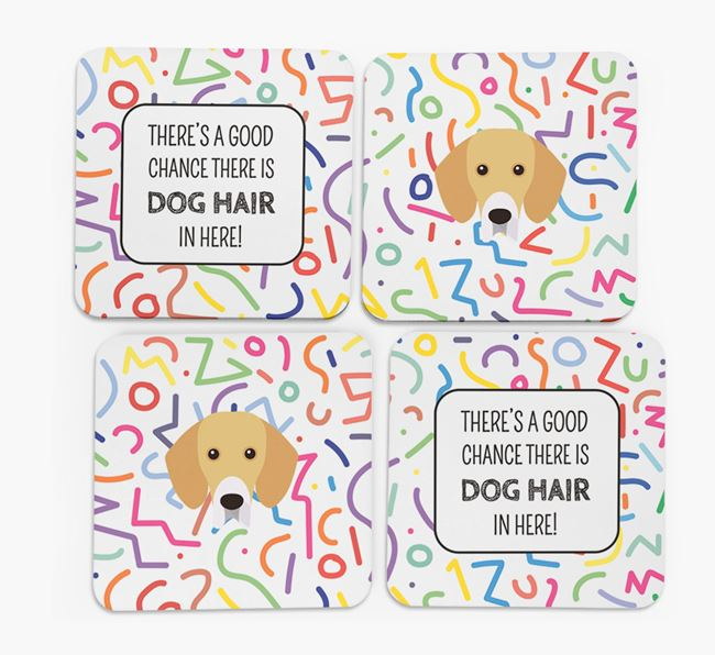 'Chance of Dog Hair' Coasters with Bassador icon