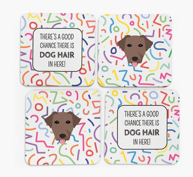 'Chance of Dog Hair' Coasters with Borador icon