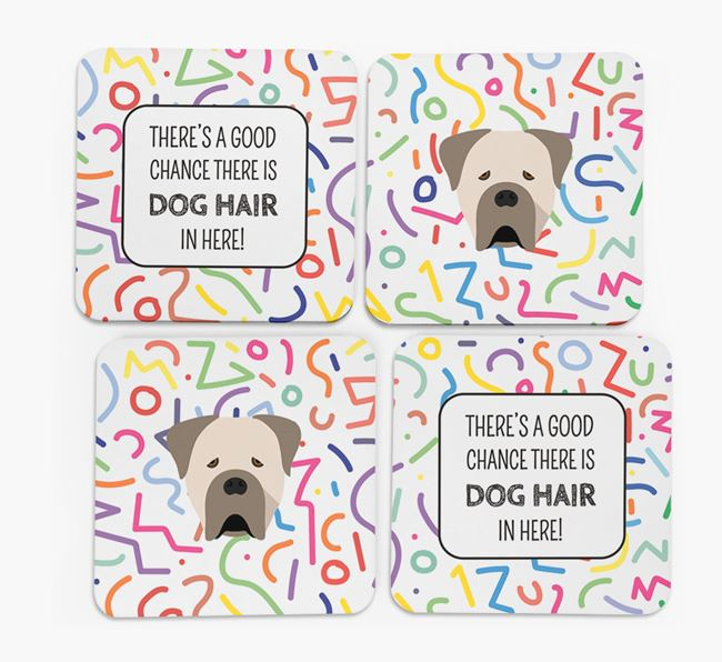 'Chance of Dog Hair' Coasters with Cane Corso Italiano icon