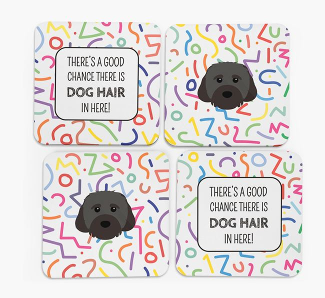 'Chance of Dog Hair' Coasters with Cavachon icon