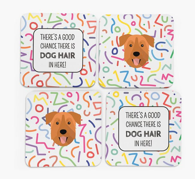 'Chance of Dog Hair' Coasters with Chinook icon