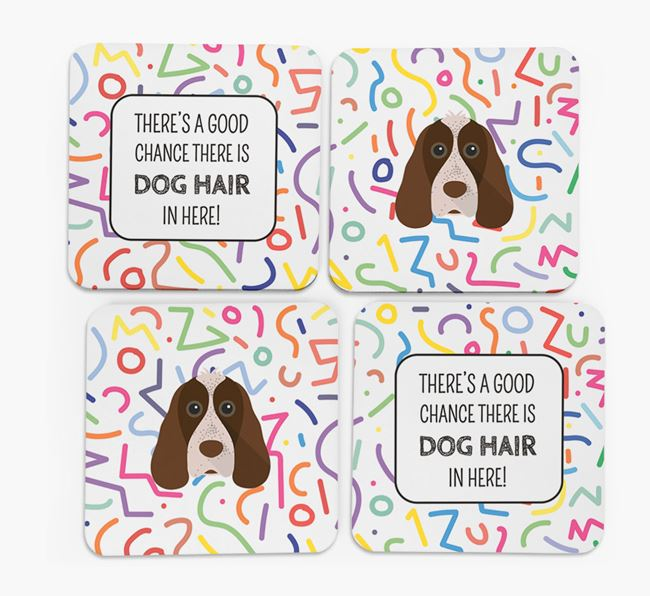 'Chance of Dog Hair' Coasters with Cocker Spaniel icon