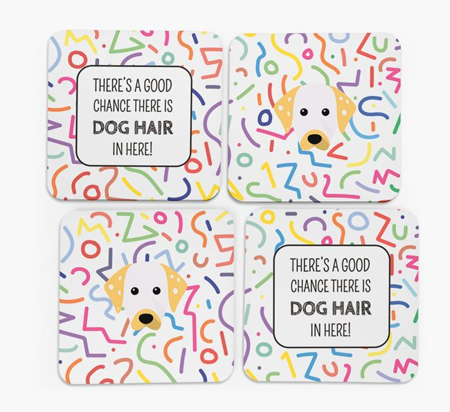 'Chance of Dog Hair' Coasters with Dalmatian icon