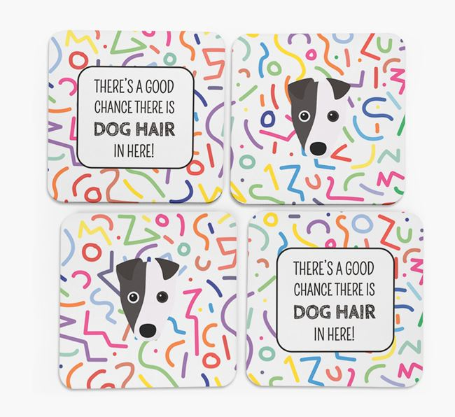 'Chance of Dog Hair' Coasters with Fox Terrier icon